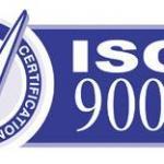 ISO 9001 Belgesi Örneği